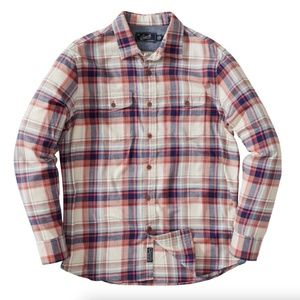 JASPER STRETCH FLANNEL SHIRT Cream Navy Red